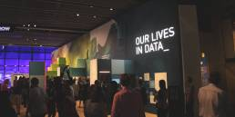 Opening day at Our Lives in Data exhibition at the Science Museum featuring an exhibit by Tekja