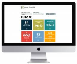 Homepage view of Coal economics portal dashboard made by Tekja for Carbon Tracker