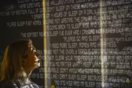 Tekja data visualisation London Awake live installation at Somerset House