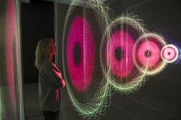 Tekja data visualisation London Awake live installation at Somerset House