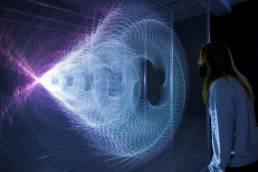 Tekja data visualisation studio London Awake live installation at Somerset House