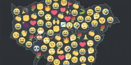 Tekja data visualisation London Telegraph election emoji map 2017